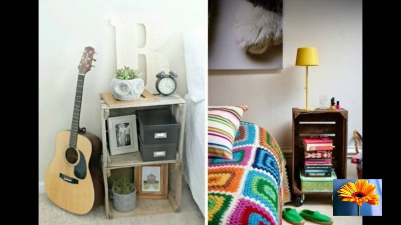 Mesas de noche originales de bajo costo de 50 ideas que for Mesas de noche plateadas