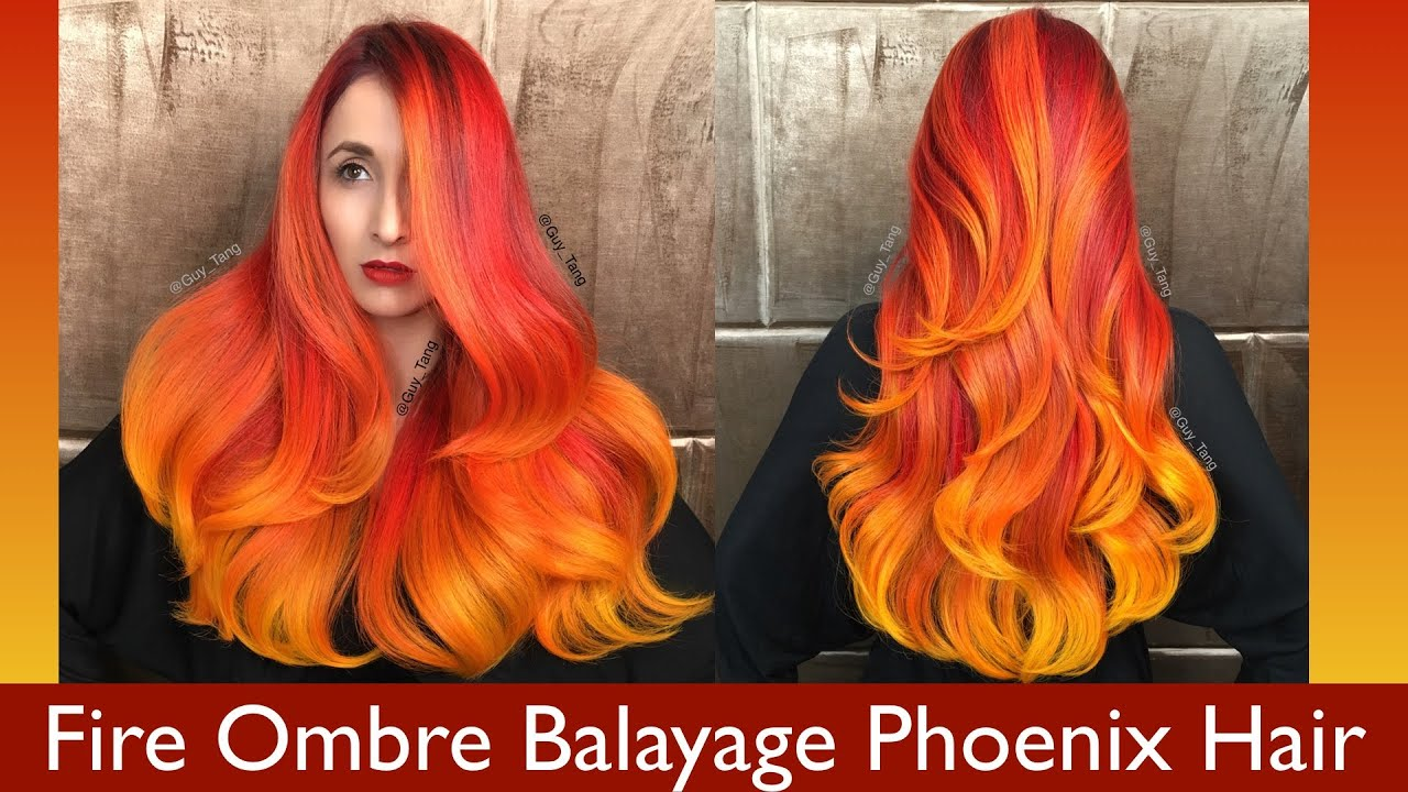 Fire Ombre Balayage Phoenix Hair