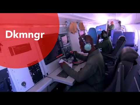 Nigerian airforce surveillance aircraft and armed drone in action