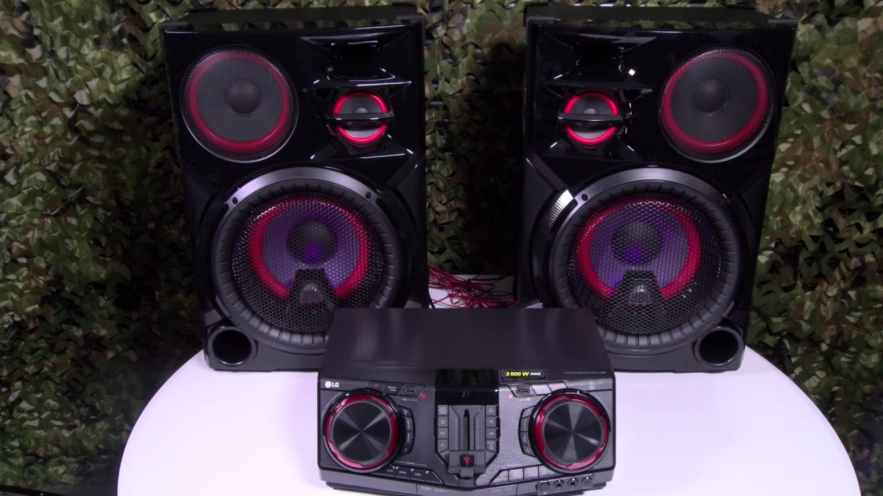LG CJ98 3500 Watt Party Speakers - MIND BLOWN!
