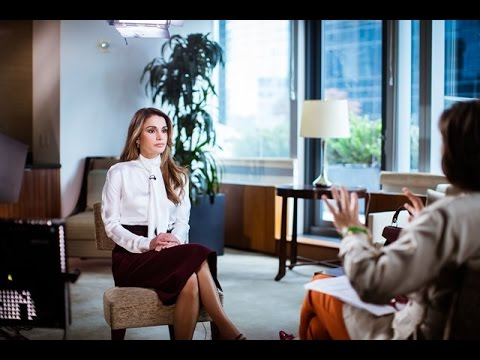 Queen Rania's  with CNN's Christiane Amanpour  Part 2