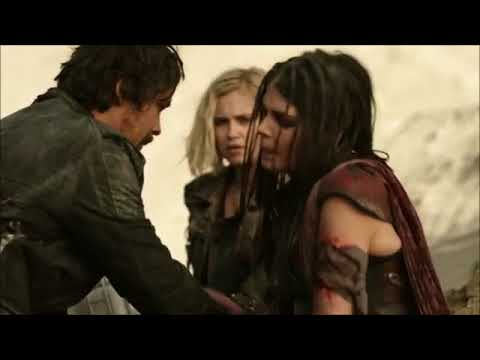 The 100 5x05 Octavia Infected Echo Kisses Bellamy Infront Of Clarke