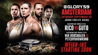 GLORY 59 Amsterdam: Weigh-ins Video