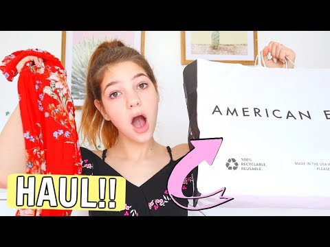 I Tried Stores I've Never Been To!! American Eagle Outfitters Shopping & Haul Ep. 2