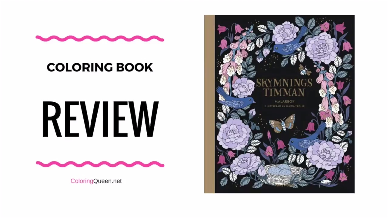 Skymningstimman Coloring Book Review - Maria Trolle - YouTube