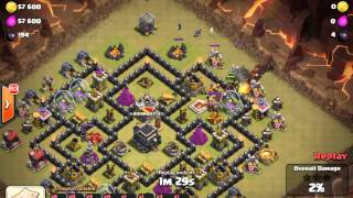 Clash of clans Attack with 42 Hod rider