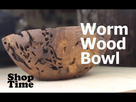 Walnut Worm Wood Bowl