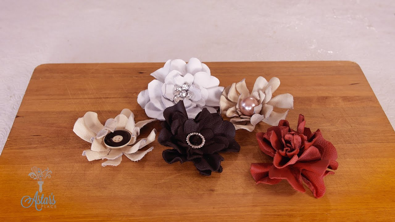 How to Make a Leather Rose - YouTube