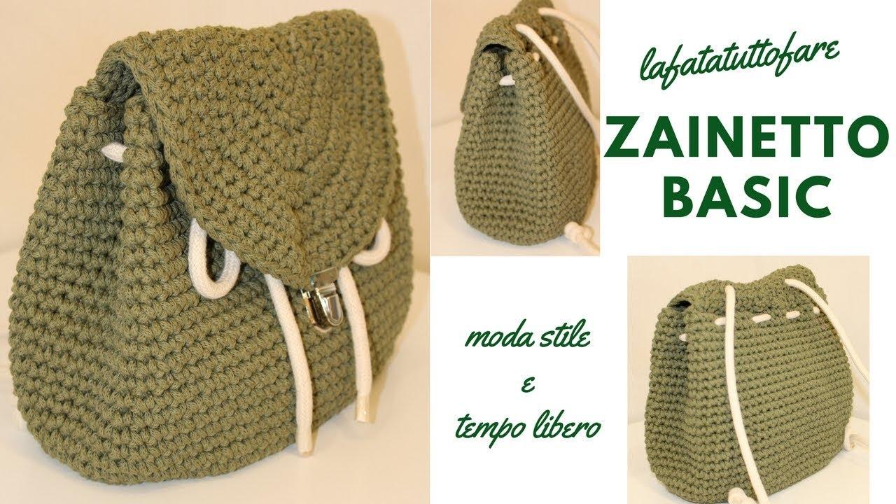 Tutorial Zaino Basiccrochet Backpack Mochila Crochet