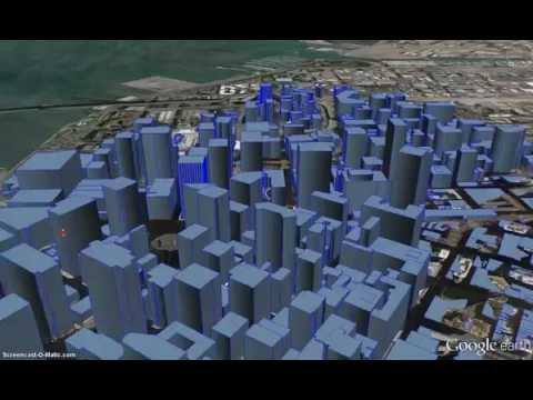 San Francisco city model based on lidar pointcloud and osm buildings