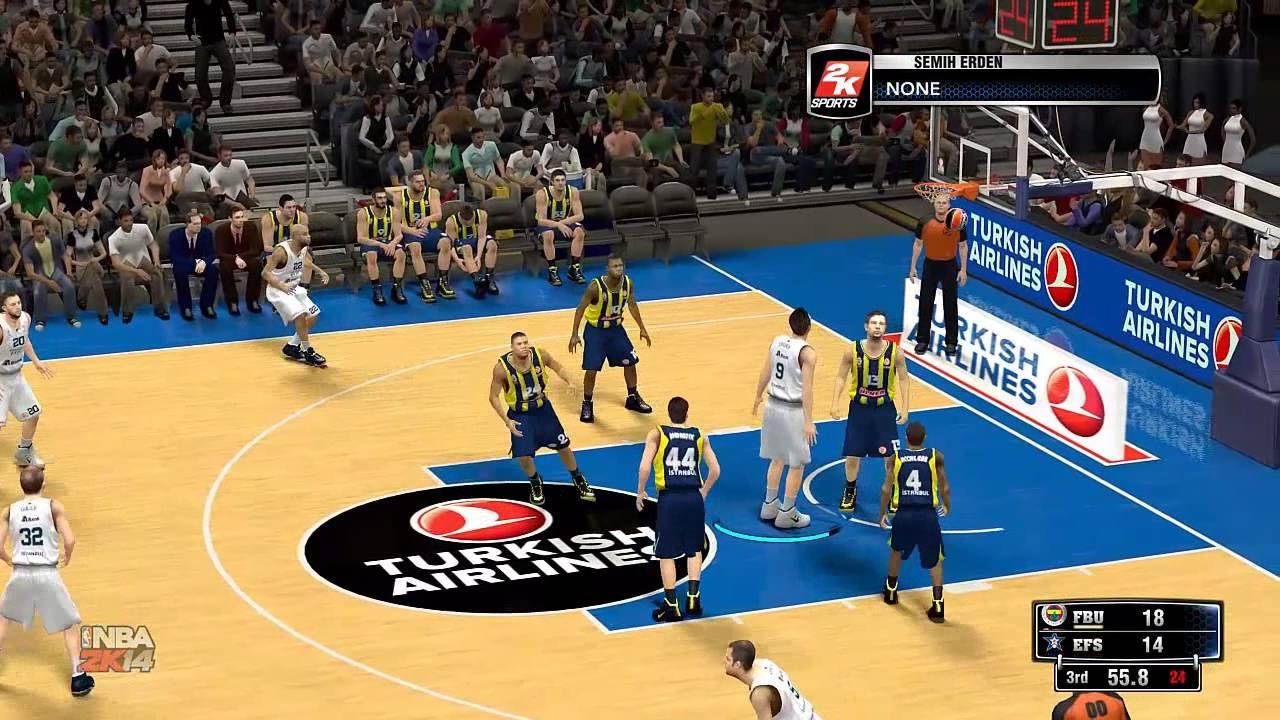 NBA 2K14 Anadolu Efes VS Fenerbahçe Ülker - YouTube