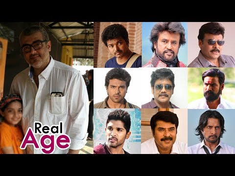 South Indian Actors Real Age | Top Tamil, Telugu, Malayalam, Kannada Actors
