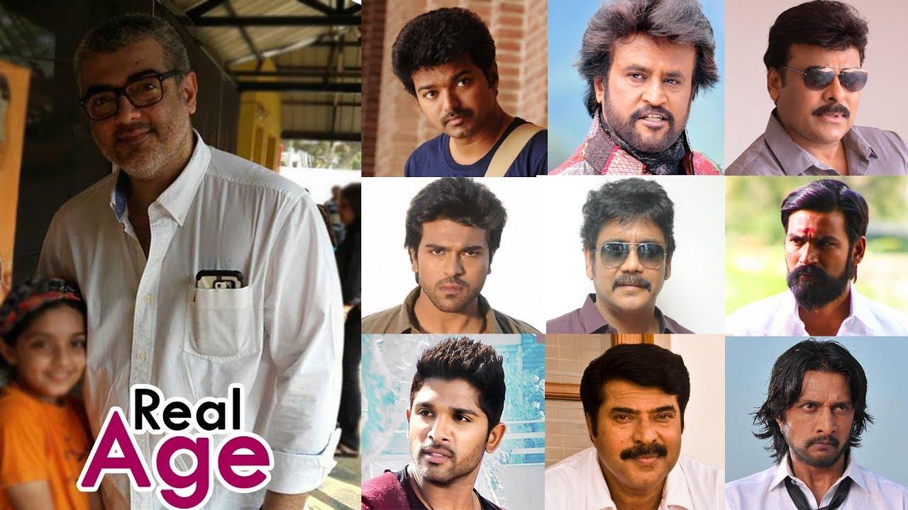 South Indian Actors Real Age Top Tamil Telugu Malayalam Kannada