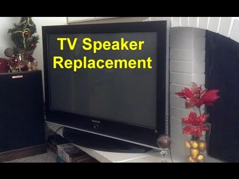 how to connect woofer to led tv