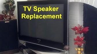 TV speaker replacement, bad speaker, flat panel TV, plasma, LCD, LED, etc.