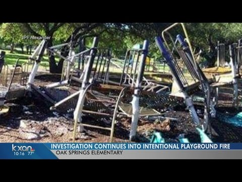 Arsonists destroy Oak Springs Elementary School playscape