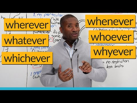 W5 Questions in English: Wherever Whenever Whatever Whoever Whyever