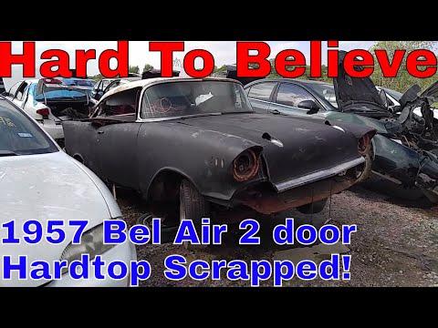 1957 Chevy Bel Air Junk Yard Find