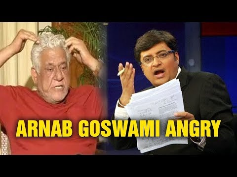 Arnab Goswami Slapped Om Puri On His Controversial Statement About BSF Jawans