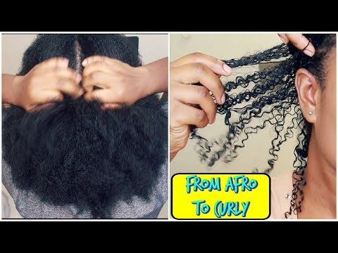 How I Revert Back to Curly After African Hair Threading   Wash Day  