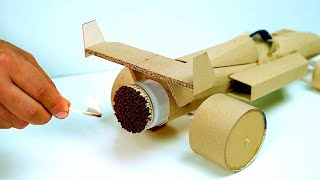Cool Matches Powered Cardboard Jet Car F1