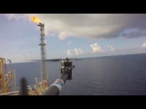 Offshore structure aerial inspection, Thailand May 2016 (Time lapse)