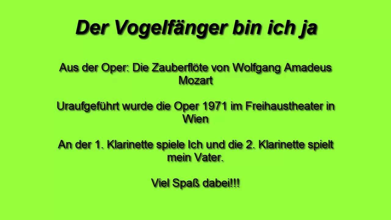 Der Vogelfänger bin ich ja (Wolfgang Amadeus Mozart)