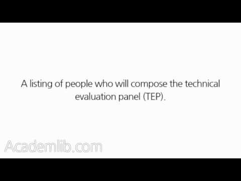 What is a technical evaluation plan, and what does it include? - YouTube - evaluation plan