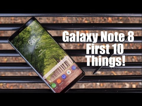 Galaxy Note 8 // First 10 Things To Do!