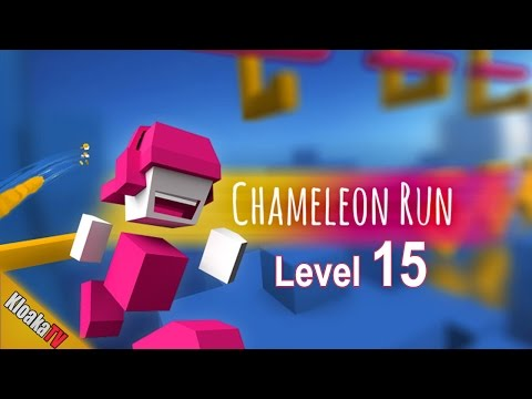 Chameleon Run - Level 15 The End is Near - Walkthrough Gameplay