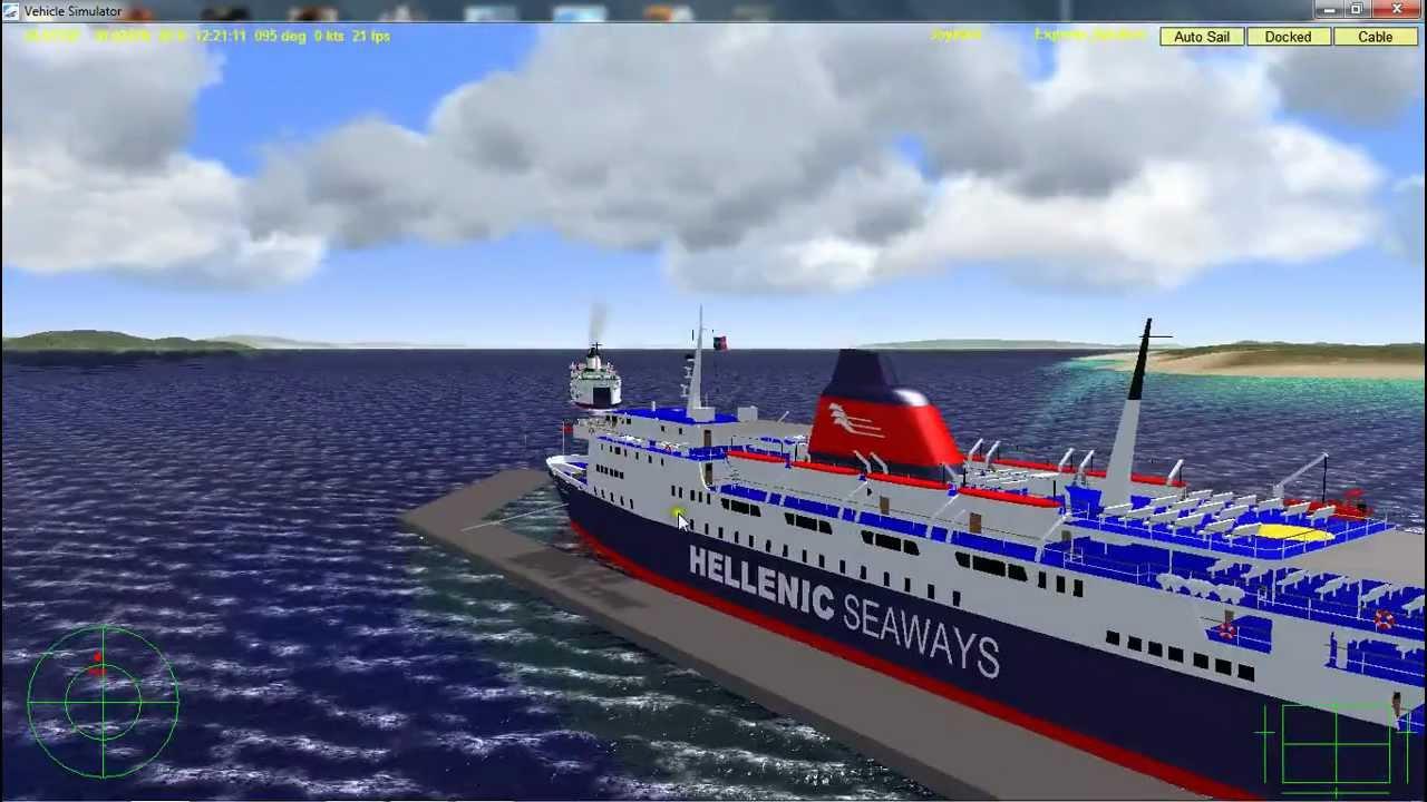 Vehicle Simulator Departure From Rafina Port Youtube