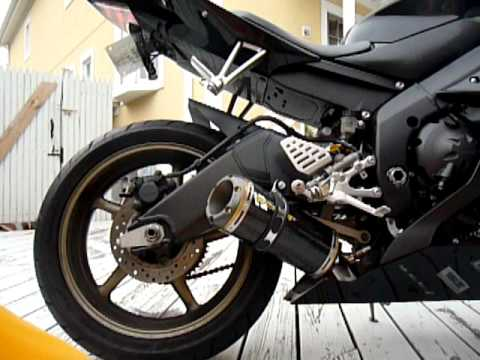 Yamaha R6 Two Brothers Full Exhaust Power Commander Youtube