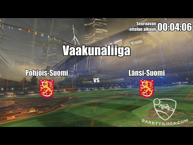 Pohjois-Suomi vs Länsi-Suomi [Vaakunaliiga] - Rakettiliigaofficial.com