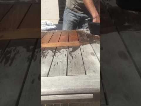 Astuce: nettoyer table en teck