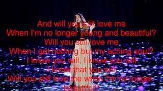 Mia Pfirrman - Young and Beautiful -The Voice 7(Lyrics)