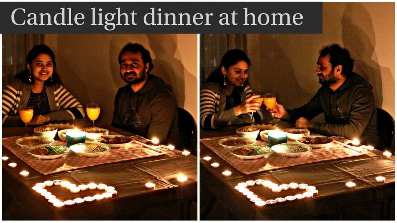 Simple And Beautiful Candle Light Preparation At Home Lockdown Special Romantic Dinner Youtube