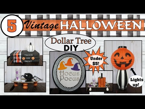 DIY Dollar Tree Halloween Decor (2019) | 5 Black and White Halloween Ideas | Crafts under $5