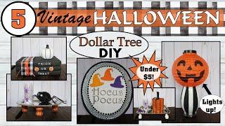 DIY Dollar Tree Halloween Decor (2019) | 5 Black and White Halloween Ideas | Crafts under $5