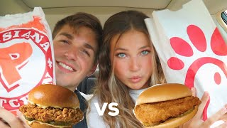 NEW popeyes chicken sandwich VS chickfila