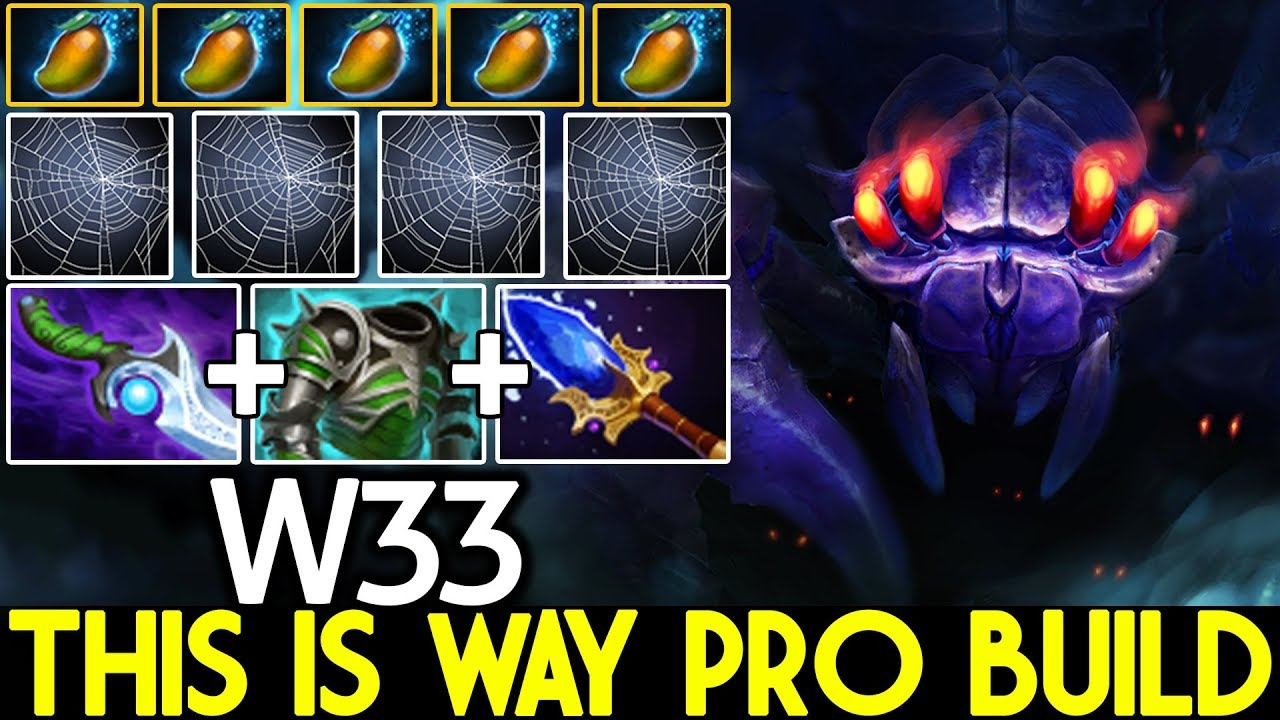 W33 [Broodmother] This is way Pro Build Full Mango Strat 7.22 Dota 2