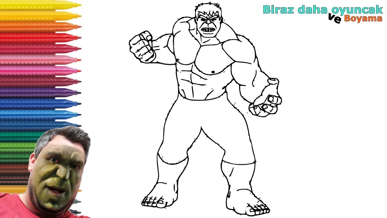 Hulk Boyama Sayfasi Boyama Videolari Youtube