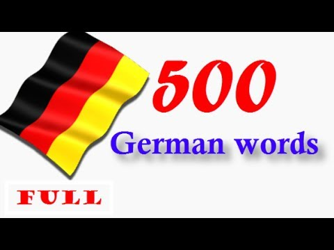 Top 500 German Words│sound & pic│in one Video