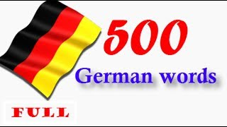 top 500 german words│sound pic│in one video