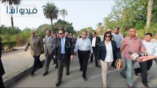 بالفيديو: محافظ الإسكندريه ووزير الزراعة يتفقدان حديقة انطونياديس التاريخية