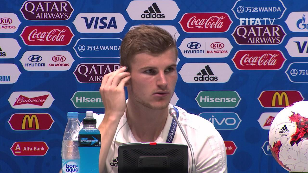 ger-v-cmr-timo-werner-germany-post-match-press-conference