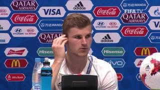 GER v CMR - Timo Werner - Germany Post-Match Press Conference