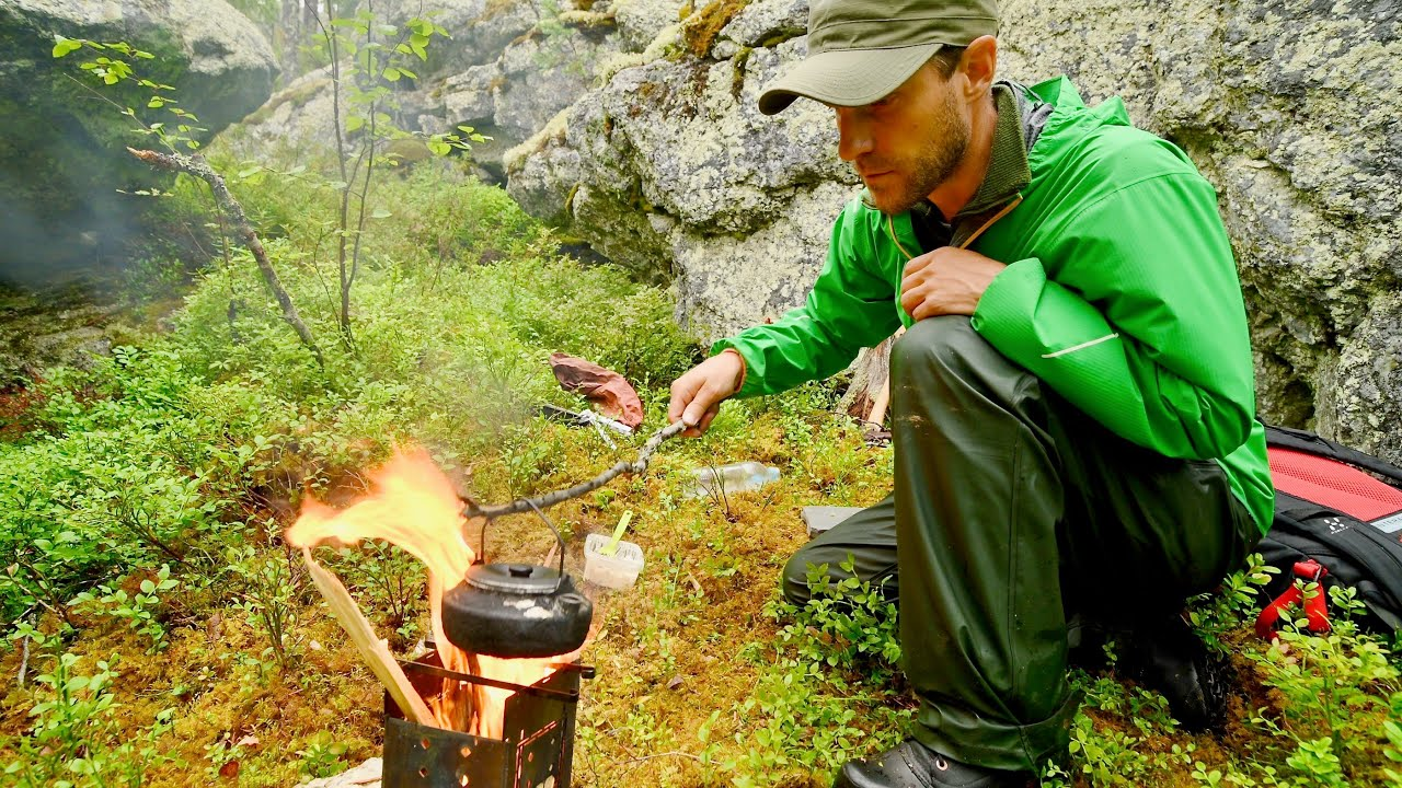 After the Rain - Making Fire and Coffee in the Woods