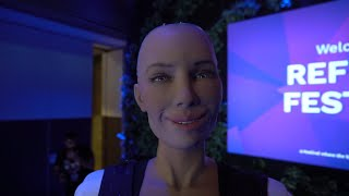 Sophia AI Robot Interview   Reflect Festival Cyprus | Android Citizen Artificial Intelligence