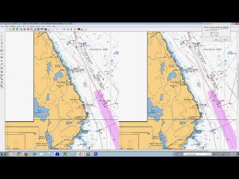 Creating a Route with Fugawi Navigational Software