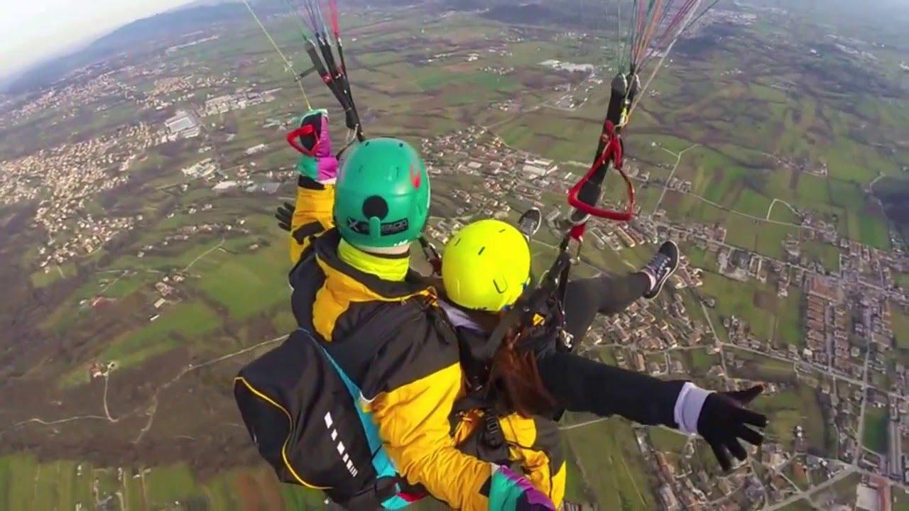 paragliding off monte grappa